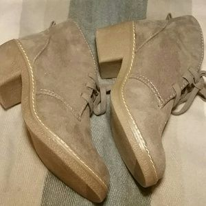NWOT Faux Suede Merona Lace Up Booties